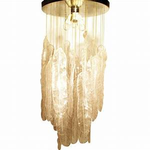 Lustre En Plume : lustre plume italien en verre de murano 1970 design market ~ Teatrodelosmanantiales.com Idées de Décoration