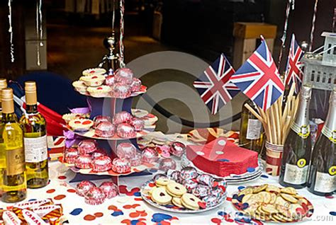 english jubilee tea party editorial photography image