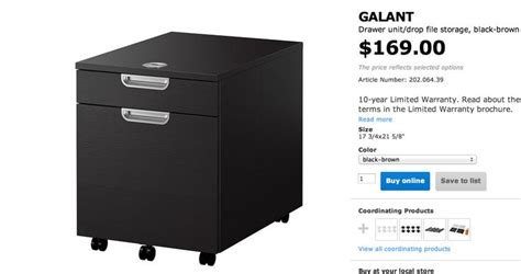 Ikea Galant File Cabinet Assembly by Ikea Galant 2 Drawer File Cabinet New Office