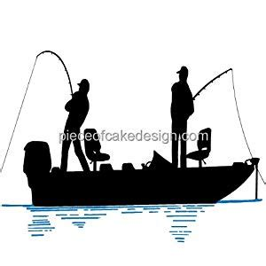 Fishing Boat Silhouette by Bass Fishing Boat Silhouette