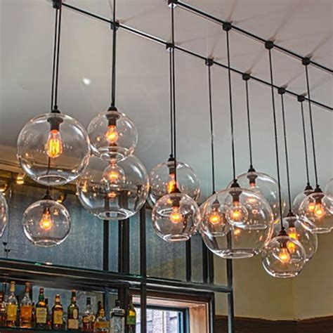 hanging lights kitchen bar modern deco hanging colorful glass e27 pendant 6997