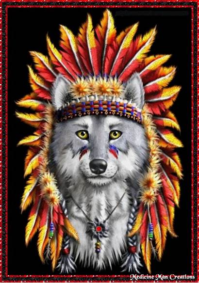 Native Wolf Indian Wolves Indians American Animal