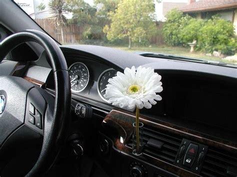 girly jeep accessories auto vase white daisy
