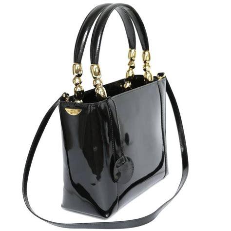 christian dior lady dior bag  vintage black patent leather  stdibs