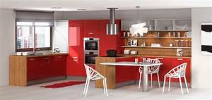 Decoration cuisine bois et rouge for Meuble de cuisine en bois rouge 14 cuisea cuisines cuisea