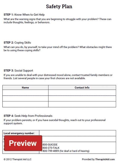 safety plan worksheet therapist aid