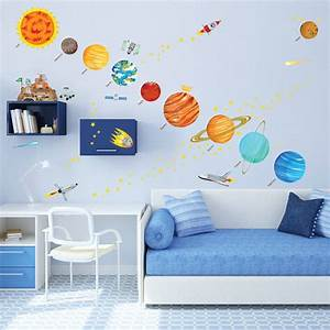 10 space themed wall decals for curious little explorers With educational solar system wall decals
