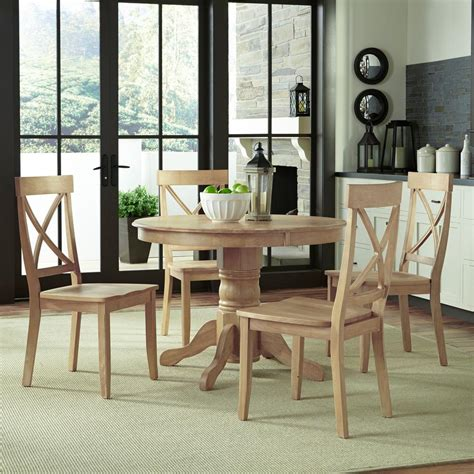 home styles classic  piece white wash dining set