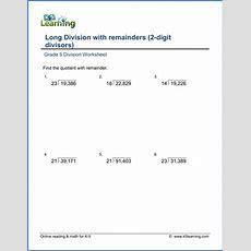 Grade 5 Multiplication & Division Worksheets  Free & Printable  K5 Learning