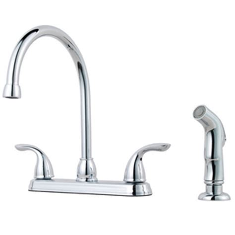 kitchen faucet gpm pfister 1 75 gpm 4 lever handle high arc