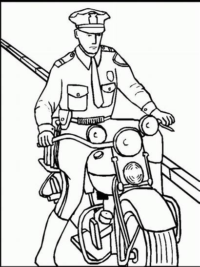 Coloring Policeman Pages Printable