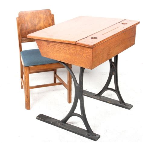 schoolhouse desk and chair vintage flip top desk and chair ebth