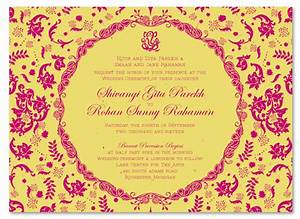 Indian wedding invitations on seeded paper vintage hindu for Images of hindu wedding invitations
