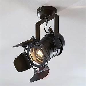 Spot Pour Plafond Tilen 1 Lampe Aspect Projecteur