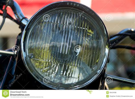Vintage Motorcycle Headlight Royalty Free Stock Photos