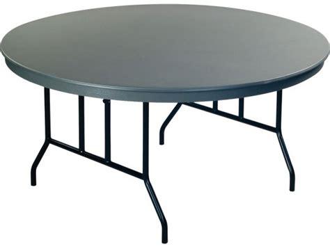 "Dynalite Lightweight Round Plastic Folding Table 72"" Dia"