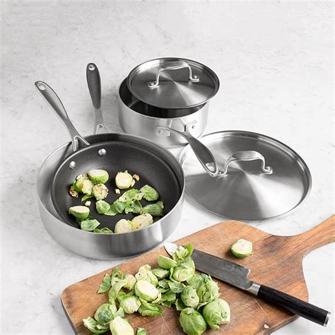 cookware stainless steel american professional kitchen usa saucepans sets piece chefs build cooking single