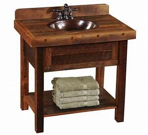 bathroom incredible open oak barnwood vanity custom log With cheap barnwood furniture