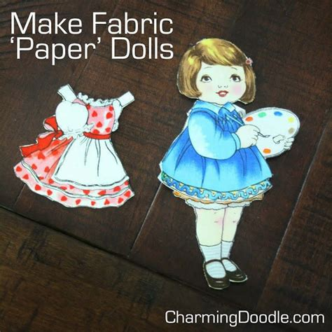 fabric paper dolls     doll accessory