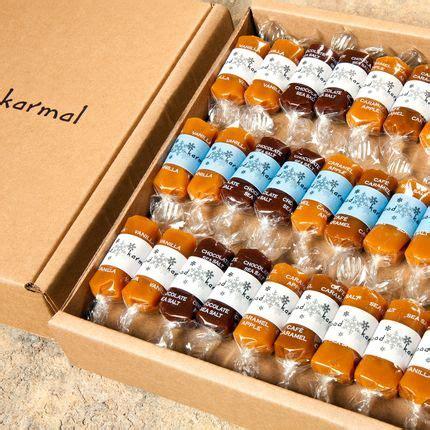 christmas gift ideas for small company karmal all flavored caramel packaged in an eco friendly recyclable gift box each