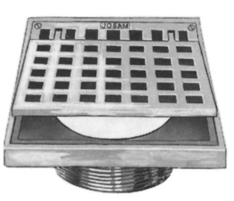 josam floor drain basket jst josam t square with hinged grate by commercial