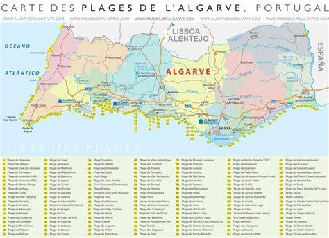Carte Des Plages De by 133 Plages De L Algarve Au Portugal