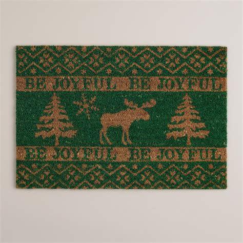 Moose Doormat by Be Joyful Moose Coir Doormat World Market