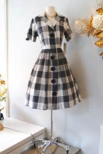 1950s Checkered Dress