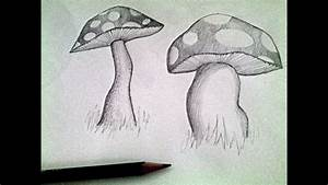 Mushroom Pencil Drawing Tutorial - YouTube