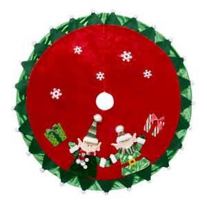 happy elves crushed velvet christmas tree skirt christmas tree shops andthat