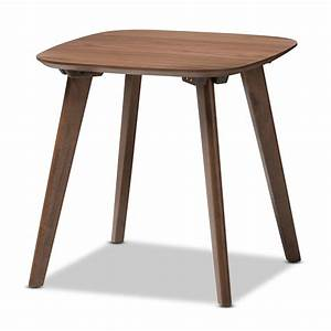 Baxton Studio Dahlia Mid-Century Modern Walnut Wood End Table