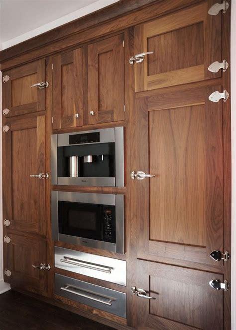 ice box latches natural walnut cabinets kitchen cabinet