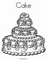 Cake Coloring Wedding Built California Usa sketch template