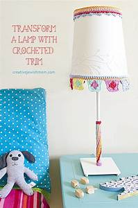 Crocheted Lampshade Simple Crocheted Trim Transforms A