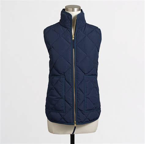 quilted puffer vest j crew aficionada quilted puffer vest retail versus