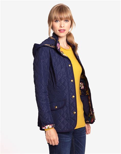 womens quilted jackets marcotte womens quilted jacket with floral lining and
