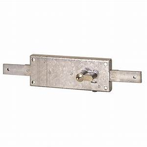 Serrure de rideau metallique 7517n a cylindre europeen for Porte de garage coulissante avec serrure 5 points