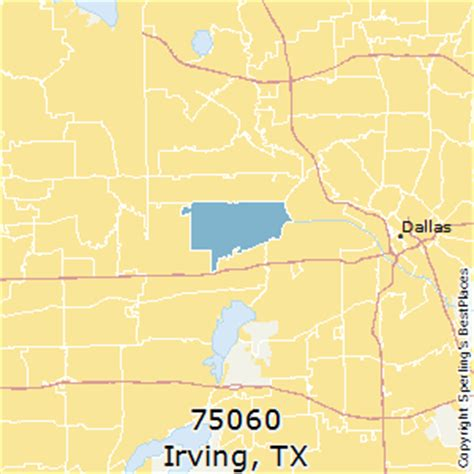 places    irving zip  texas