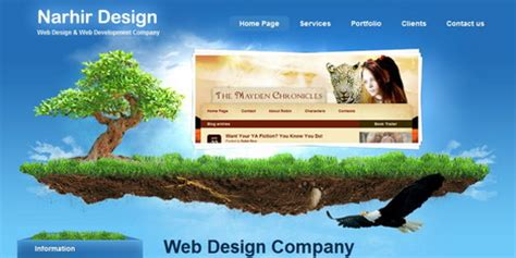creative  impressive website header designs