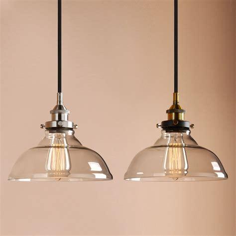 permo 10 quot clear glass edison retro industrial pendant light