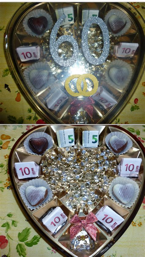 diamantene hochzeit geschenke geldgeschenk zur quot diamantenen hochzeit quot ich habe eine leere pralinenschachtel genommen und sie