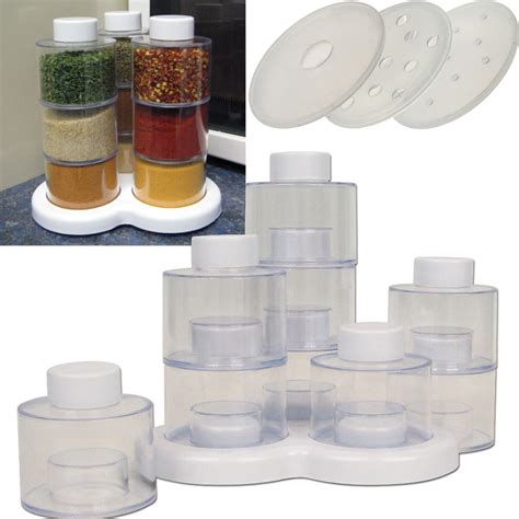 Spice Rack Sets by As Seen On Tv Spice Rack Spin Storage Set 10