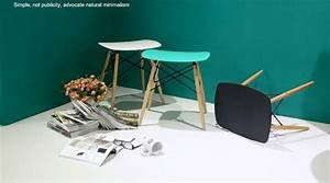 2018 eames stoolwood plastic chairwood dining chair for Plastic furniture for living room
