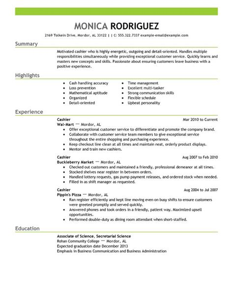 Operated Register Resume by Professional Cashier Templates To Showcase Your Talent