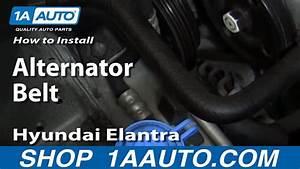 How To Install Replace Alternator Belt 1999-06 Hyundai Elantra 2 0l