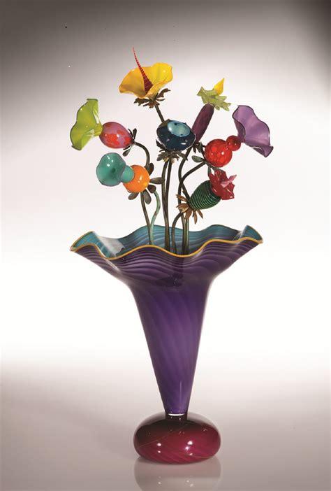 amazon vase  bob kliss  laurie kliss art glass
