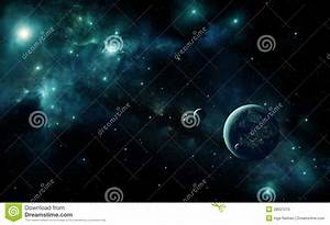 Alien Planet In Space Royalty Free Stock Photo - Image ...