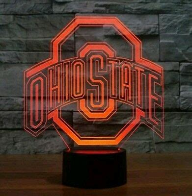 NEW! Ohio State Football 3D Lamp LED 7 Color Changing ...