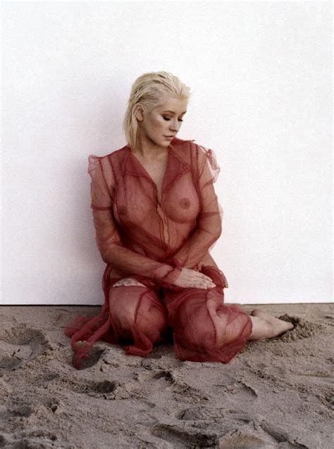 Christina Aguilera Topless Photo Shooting Scandal Planet