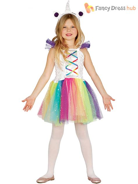 Girls Unicorn Costume Child Baby Toddler Fantasy Fancy Dress Fairytale Outfit | eBay